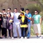 دوستان در بازدیدهای قلعه